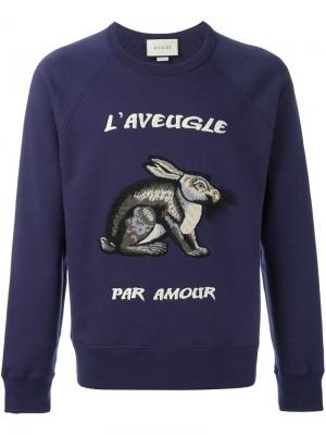 Толстовка с изображением зайца Outsource Images. Цвет: синий
