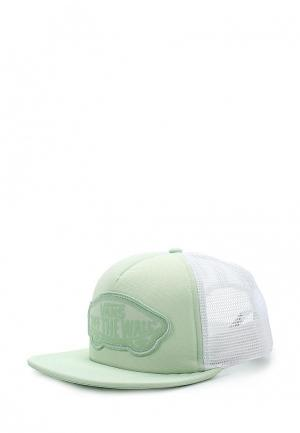 Бейсболка Vans. Цвет: зеленый