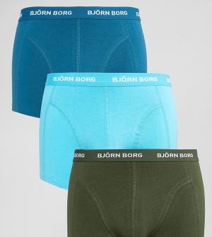 Bjorn Borg 3 пары боксеров-брифов. Цвет: темно-синий