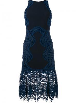 Облегающее платье Jonathan Simkhai. Цвет: синий