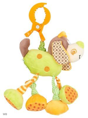 Подвеска с вибрацией Пёсик Том Жирафики. Цвет: коричневый, бежевый, оранжевый, салатовый