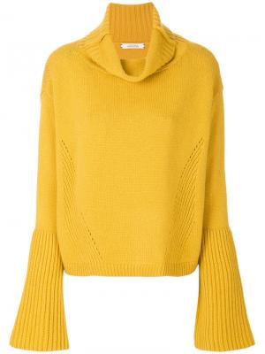 Классический свитер-водолазка Dorothee Schumacher. Цвет: жёлтый и оранжевый