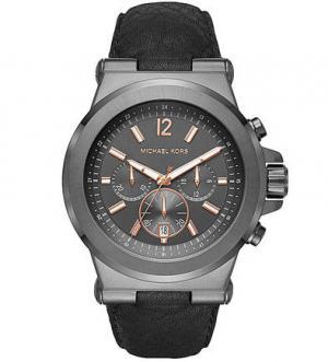 Часы с круглым стальным корпусом Michael Kors