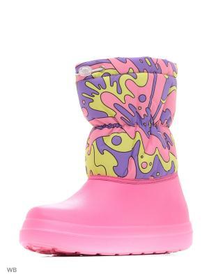 Сноубутсы ANRA. Цвет: фиолетовый, белый, розовый