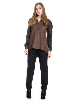 Рубашка JATRAW. Цвет: темно-коричневый