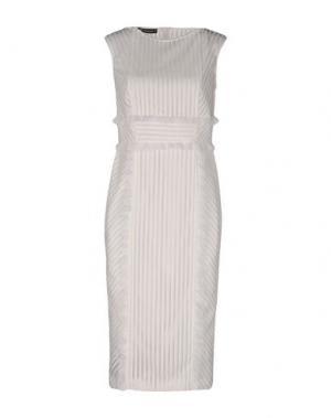 Платье до колена TENAX. Цвет: белый