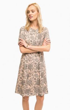 Платье средней длины с цветочным принтом Marc O'Polo. Цвет: цветочный принт