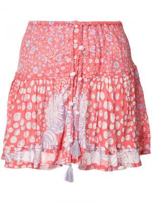 Плиссированная юбка Kila Poupette St Barth. Цвет: красный