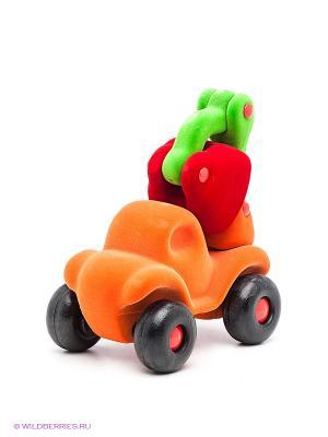 Игрушка Бульдозер Rubbabu. Цвет: оранжевый, зеленый, красный
