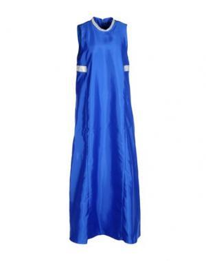 Длинное платье LA CAMICIA BIANCA. Цвет: синий