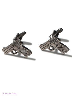Запонки Пистолеты Mitya Veselkov. Цвет: серебристый