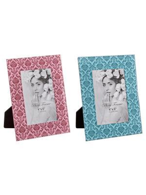 Набор из 2 рамок для фотографий Bizzotto. Цвет: розовый, голубой