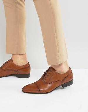 ALDO Оксфорды со вставкой на носке Saylian. Цвет: рыжий