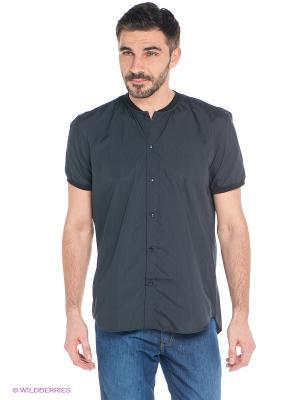 Рубашка New Look. Цвет: темно-синий