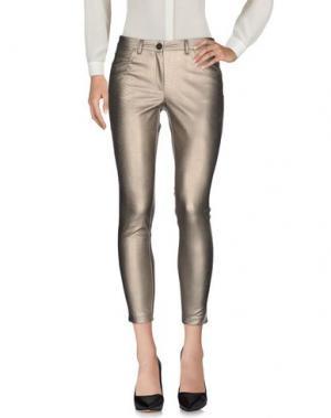 Повседневные брюки BOUTIQUE de la FEMME. Цвет: платиновый