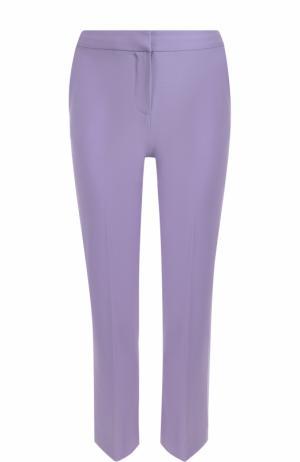 Укороченные брюки прямого кроя со стрелками Diane Von Furstenberg. Цвет: фиолетовый