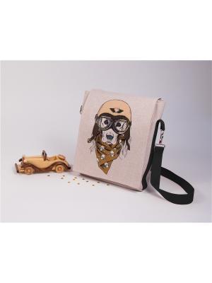 Набор для шитья и вышивки текстильная сумка- планшет Пилот Матренин Посад. Цвет: серый, бежевый, коричневый
