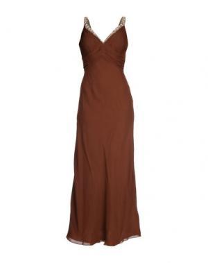 Длинное платье MUSANI COUTURE. Цвет: темно-коричневый