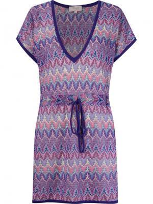 Трикотажное пляжное платье Brigitte. Цвет: розовый и фиолетовый