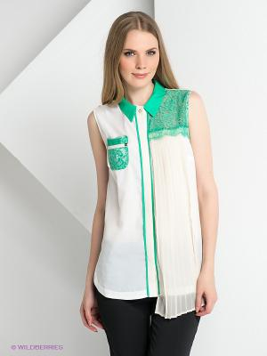 Блузка BOVONA. Цвет: белый, молочный