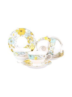 Набор чайный 12 предметов 220 мл. PATRICIA. Цвет: желтый