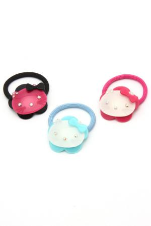 Набор резинок NICE GIRL. Цвет: черный, розовый, голубой