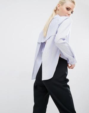 Kendall + Kylie Рубашка с открытой спиной. Цвет: мульти