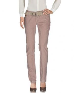 Повседневные брюки Z-BRAND. Цвет: пастельно-розовый