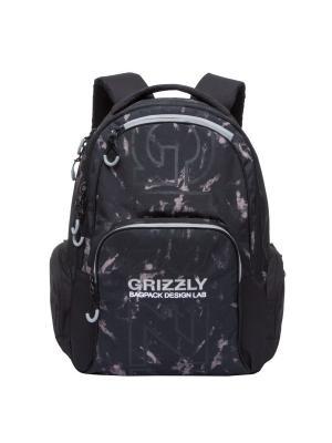 Рюкзак Grizzly. Цвет: черный, темно-бежевый
