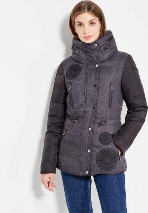 Куртка утепленная Desigual. Цвет: серый
