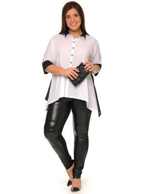 Блузка SVESTA. Цвет: черный, белый, антрацитовый