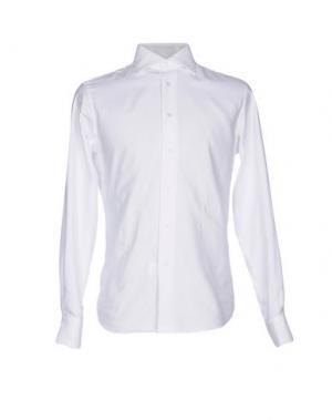 Pубашка ZANETTI. Цвет: белый
