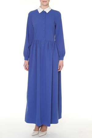 Платье макси SWEETME TM. Цвет: синий