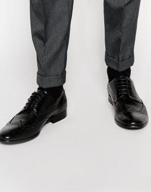 Standard Fortyfive Кожаные броги. Цвет: черный