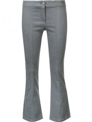 Укороченные расклешенные джинсы Veronica Beard. Цвет: серый