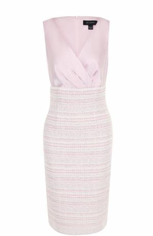 Приталенное платье-футляр St. John. Цвет: светло-розовый