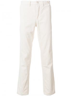 Вельветовые брюки Norse Projects. Цвет: белый