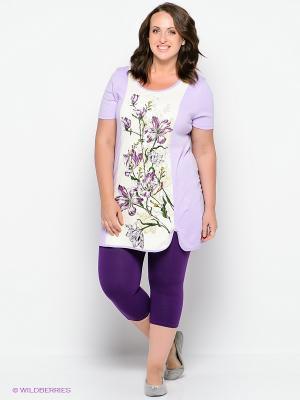 Пижама PELICAN. Цвет: фиолетовый, кремовый, сиреневый