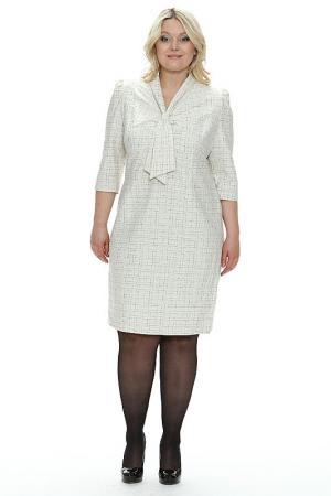 Платье Ангелина Зар-Стиль. Цвет: молочный