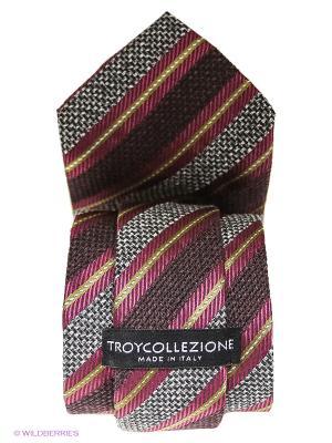 Галстук Troy collezione. Цвет: малиновый, коричневый