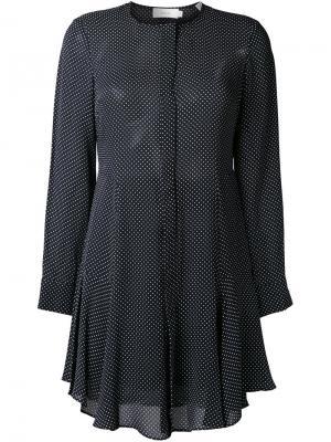 Платье-рубашка в горошек A.L.C.. Цвет: чёрный