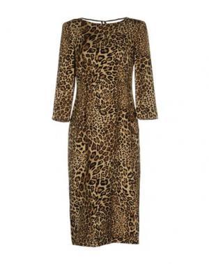 Платье длиной 3/4 TENAX. Цвет: бежевый