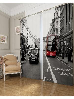 Фотошторы Классика Лондона, Блэкаут Сирень. Цвет: серый, красный, белый, черный