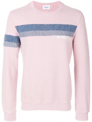 Толстовка с джинсовыми полосками Dondup. Цвет: розовый и фиолетовый