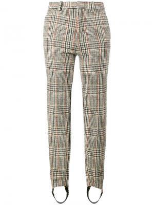 Строгие брюки со штрипками Y / Project. Цвет: телесный