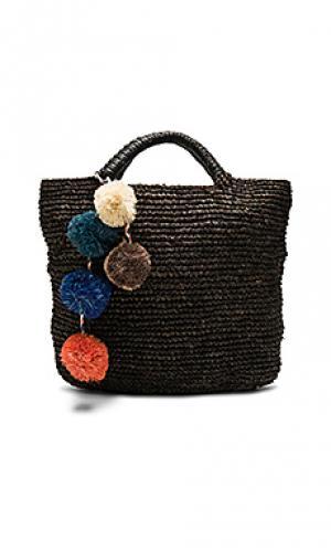Вязаная сумка-тоут belle KAYU. Цвет: черный