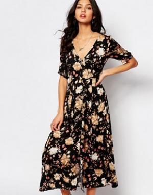 Somedays Чайное платье с цветочным узором Lovin. Цвет: мульти