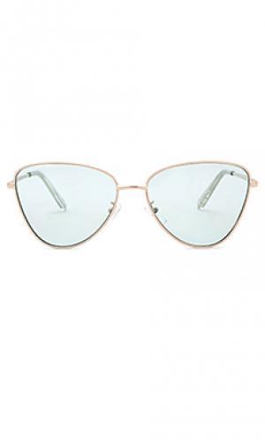 Солнцезащитные очки x revolve echo Le Specs. Цвет: металлический золотой