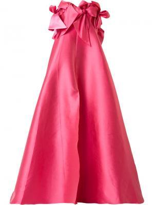 Вечернее платье с бантами Alexis Mabille. Цвет: розовый и фиолетовый