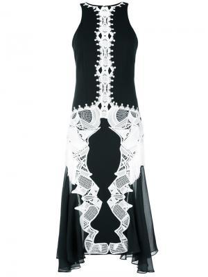 Платье с кружевной отделкой Jonathan Simkhai. Цвет: чёрный